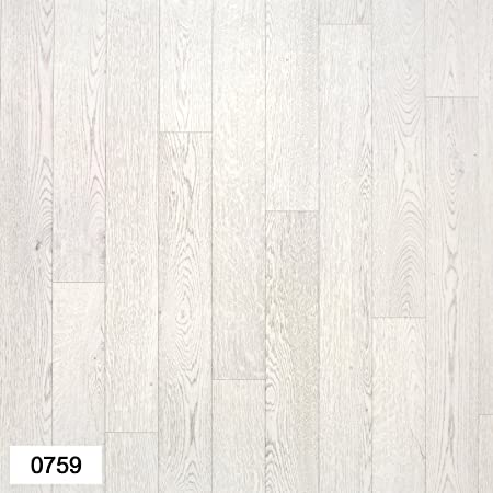 0759 Falco Light Grey Wood Effect Anti Slip Vinyl Flooring Home