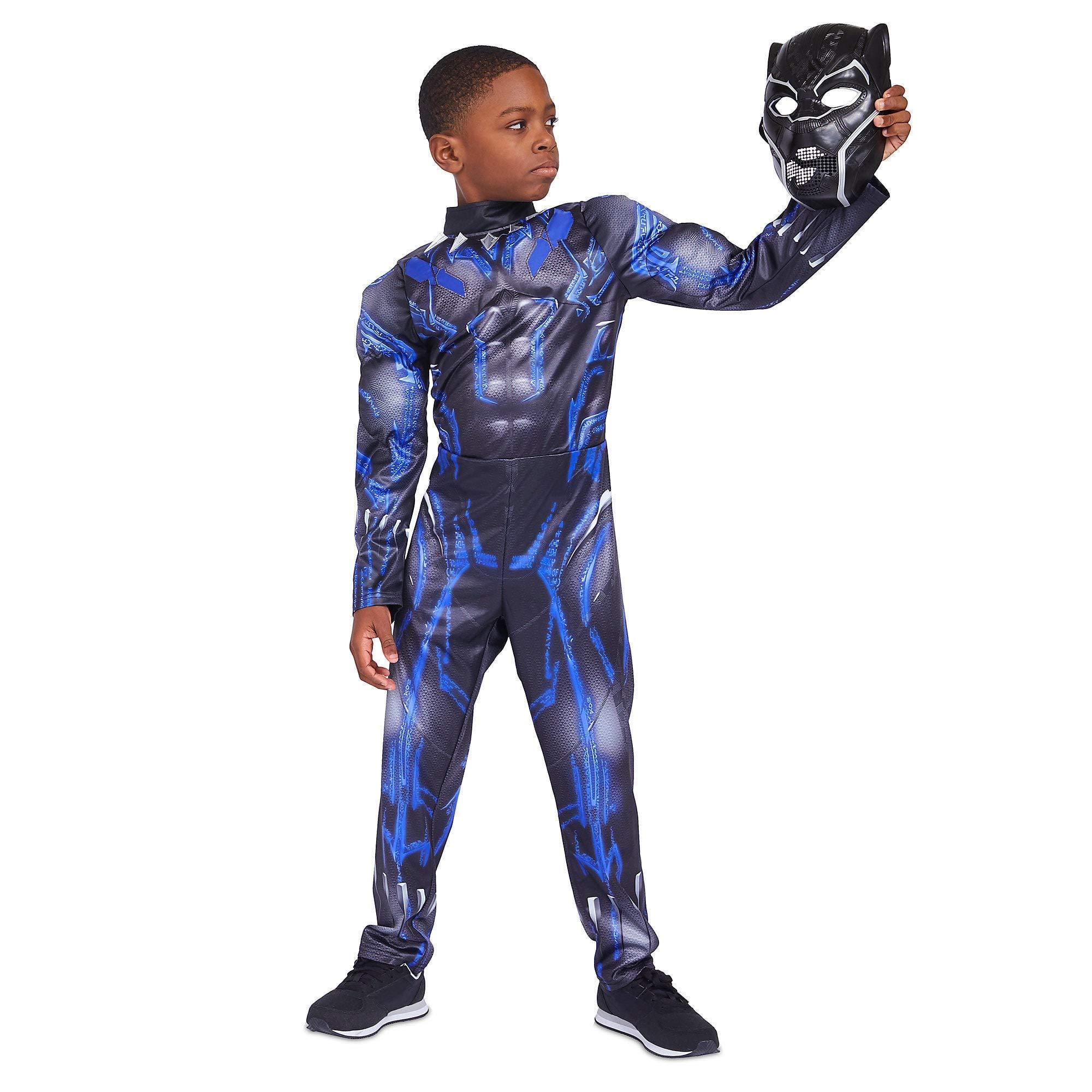 Marvel Black Panther Light-Up Costume for Kids Size 5/6 Black
