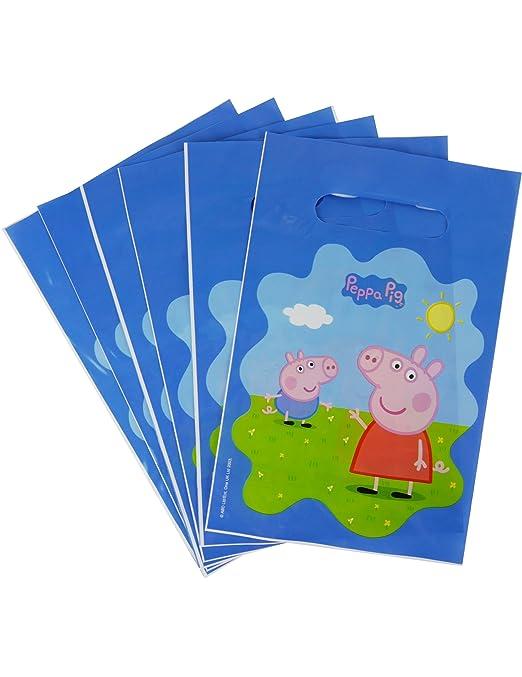 COOLMP - Lote de 6 Bolsas de Regalo Peppa Pig 22,5 x 15 cm ...
