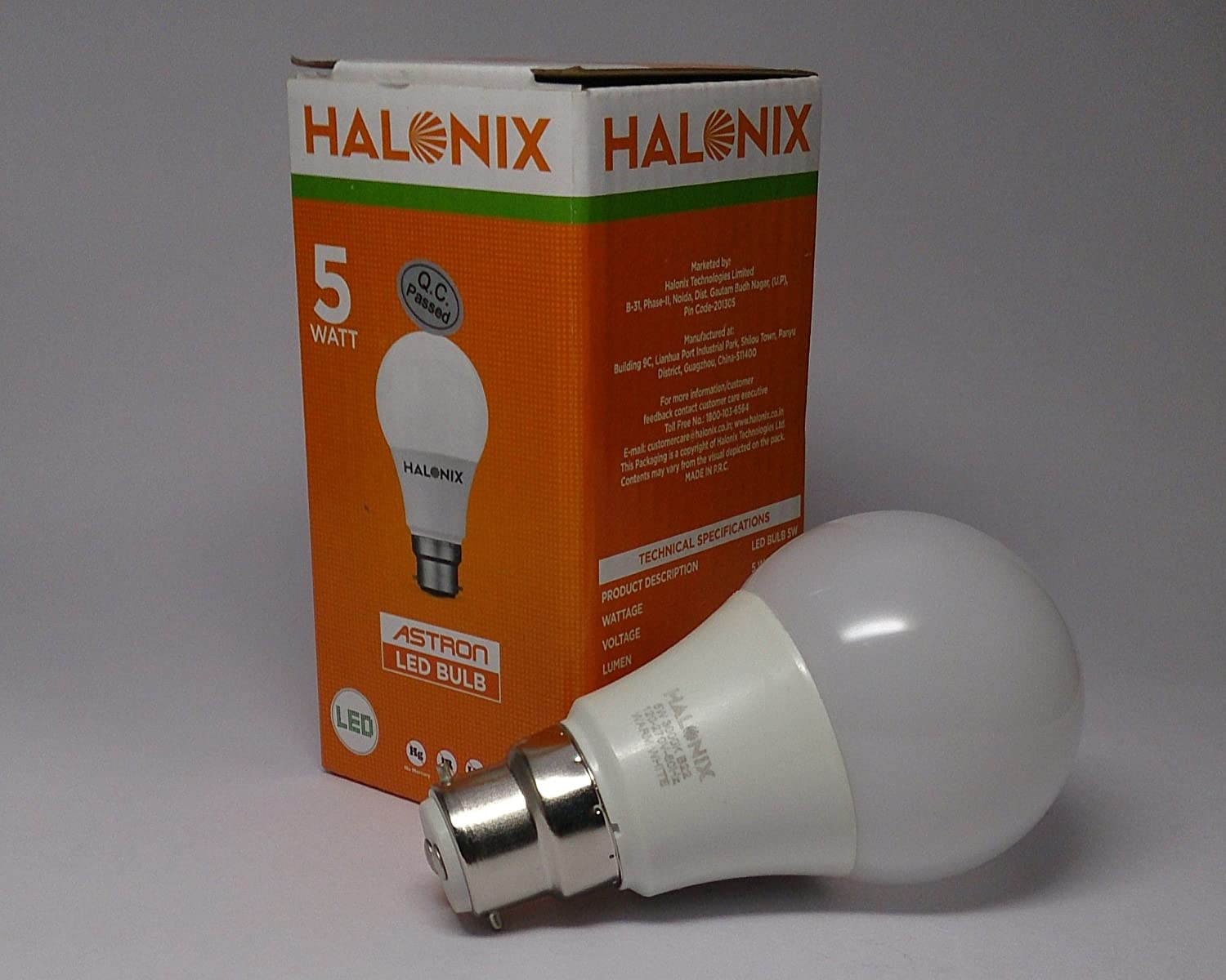 & Buy HALONIX 5W LED BULB Online at Low Prices in India - Amazon.in azcodes.com