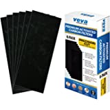 VEVA Full Size Premium Activated Carbon Pre Filter 6 Pack Compatible with HB Air Purifier 04383, 04384 and 04386 for Pet, Smoke and Odor Eliminator, 100% Safe and Zeolite Free