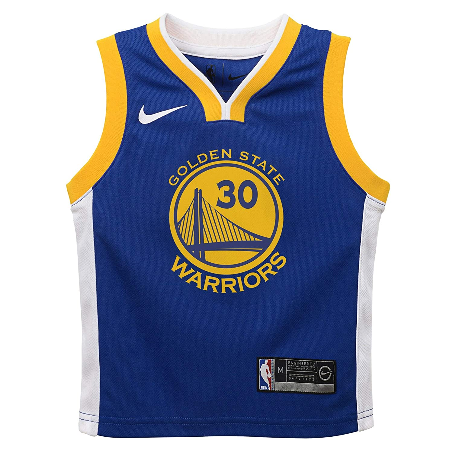 Nike Stephen Curry Golden State Warriors NBA Toddler 2-4 Royal Blue Road Icon Edition Player Jersey