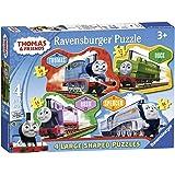 Ravensburger Thomas & Friends 4 Large Shaped Jigsaw Puzzles (10,12,14,16pc)