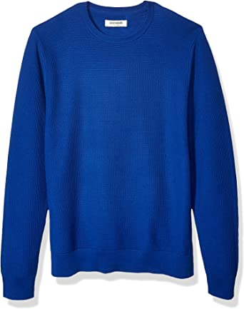 Brand Goodthreads Mens Soft Cotton Ottoman Stitch Crewneck Sweater