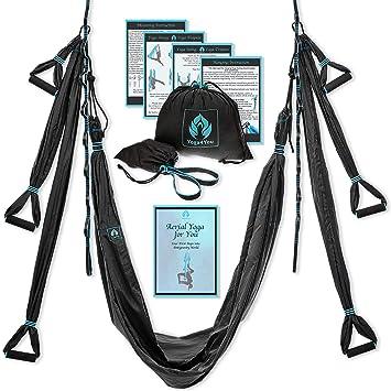 Antenne Lot Trapeze Kit Yoga Swing Noir Hamac lFK1TJc3