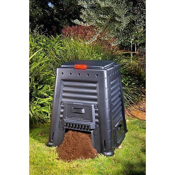 Keter Mega compostador 650L compostador con tapa: Amazon.es: Jardín