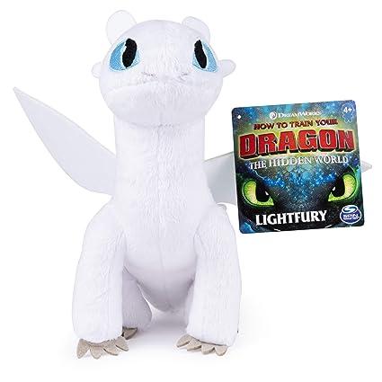 "Deluxe Lightfury 14/"" Plush Hidden World HOT NEW How to Train Your Dragon"