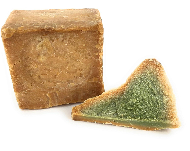 Carenesse Jabón Alepo, 80% de aceite de oliva y 20% de aceite de laurel, receta tradicional, cortada a mano, producto natural, sin colorante y perfumes ...