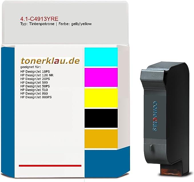 compatible Cartucho de tinta 4.1 de c4913yre para: HP Designjet 800ps como repuesto para HP C4913 A: Amazon.es: Oficina y papelería