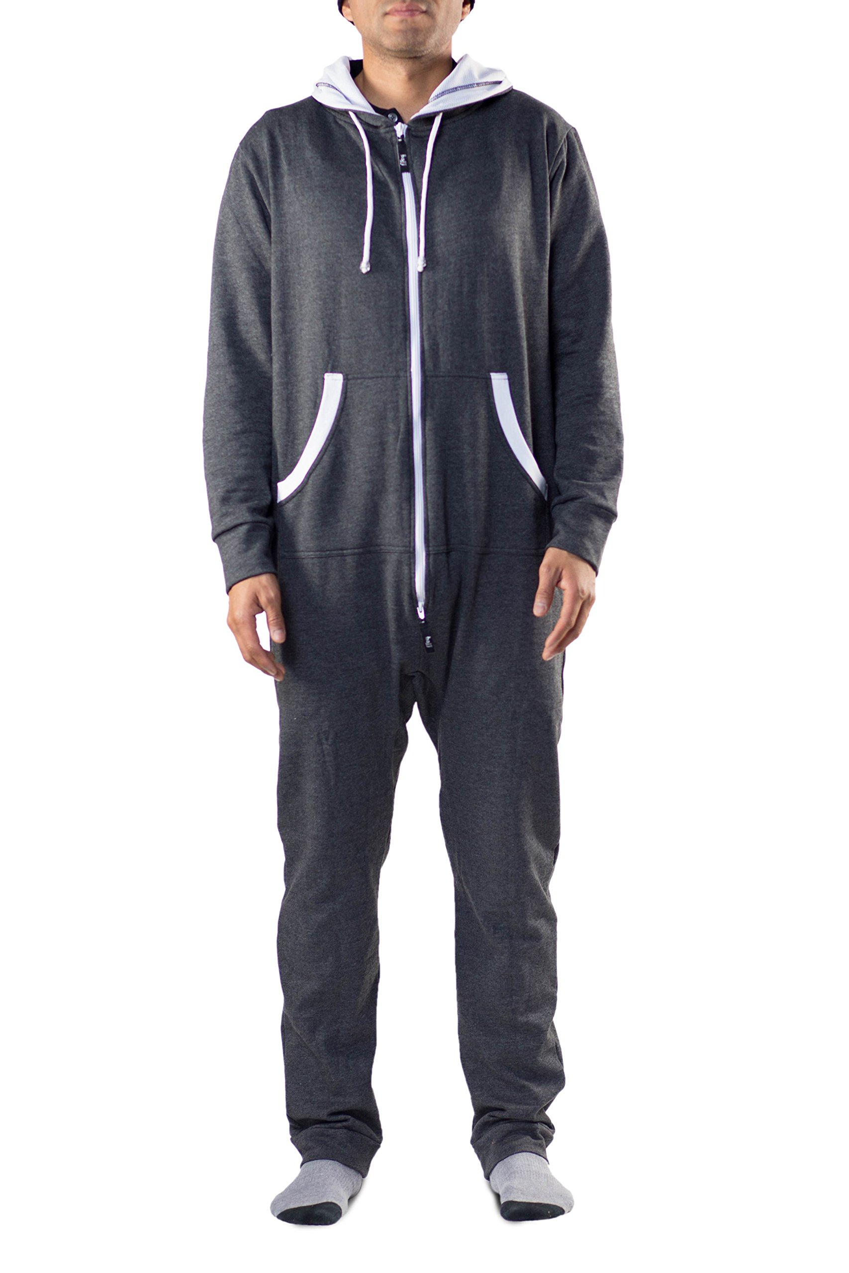 Onesie Adult Jumpsuit – One Piece Non-Footed Pajama Playsuit - Unisex