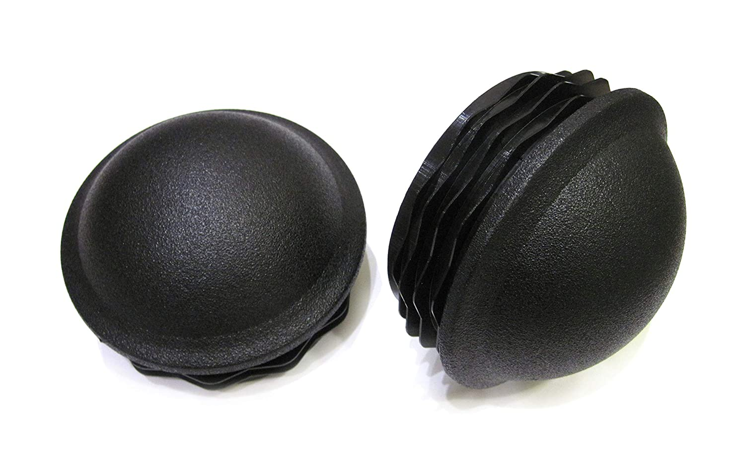 2pcs Pack: 3 1/2 Inch Round Plastic Spherical End Cap (for Hole Size from 3 3/16 to 3 3/8, Including 3 1/4 inches), Dome Shaped Cover for Steel Fence Post, Furniture Finishing Plug (Black)