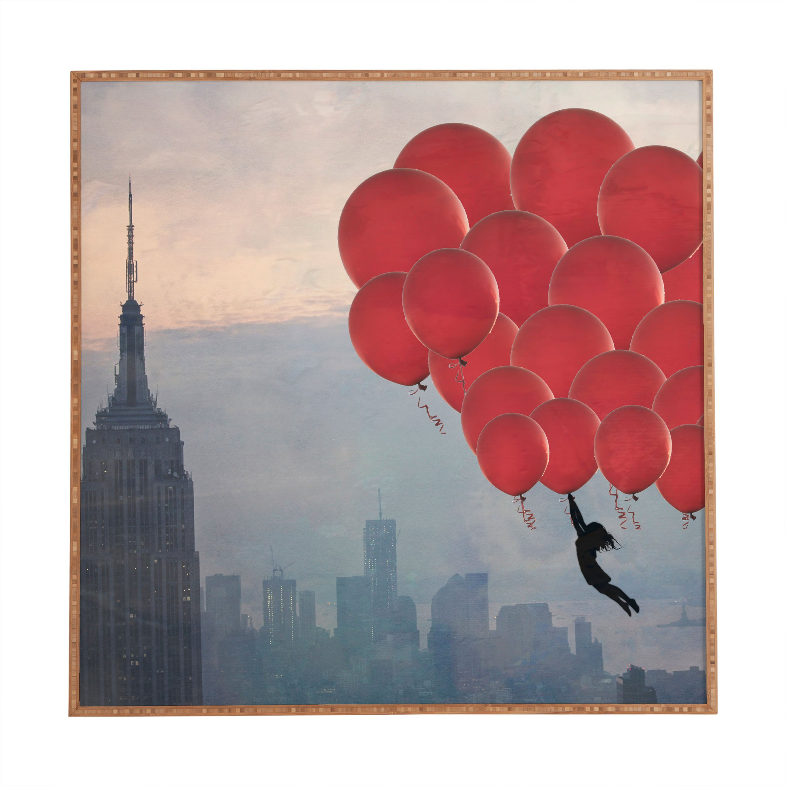 Deny Designs Maybe Sparrow Photography, Floating Over The City, Framed Wall Art, Small, 12''x 12''