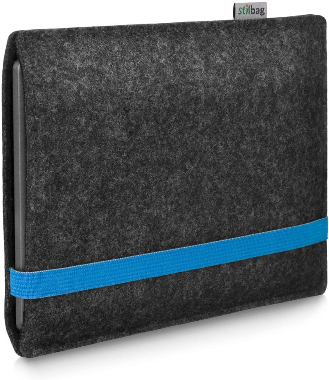banda elastica blu Copertura di protezione Made in Germany 9. Generation | Feltro di lana antracite Stilbag e-reader borsa LEON per  Kindle Oasis