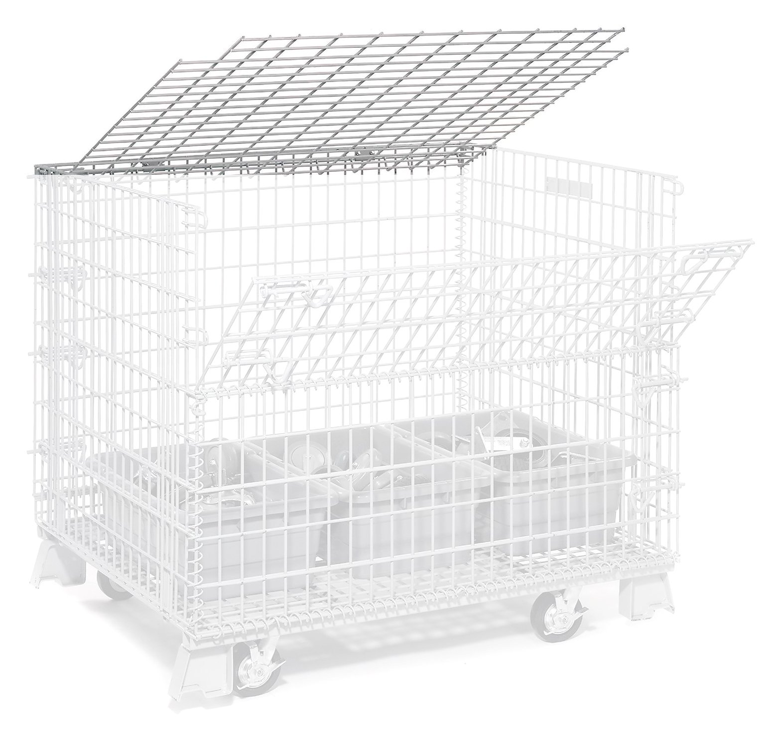 Nexel Hinged Lid for 4000 Lbs. Capacity Folding Wire Container, 40''L x 32''W
