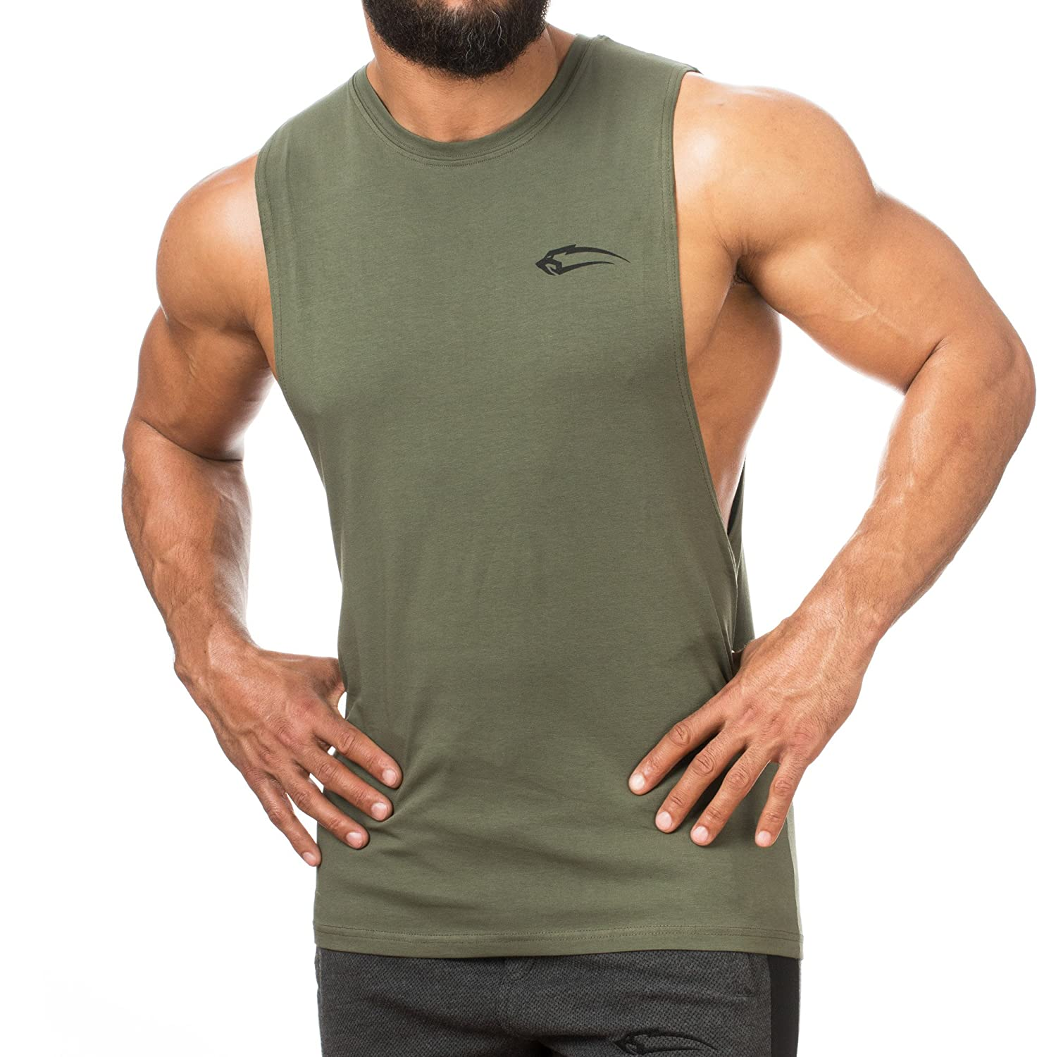 6c774a7739726 SMILODOX Cut Off Tank Top Men