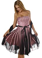 Stripe Cocktail Dress Cocktail Gown