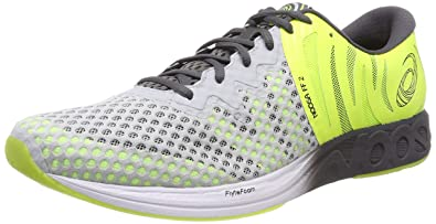 42c39c9d95 ASICS Men's Noosa FF 2 Glacier Dark Grey/Safety Yellow Running Shoes-12 UK