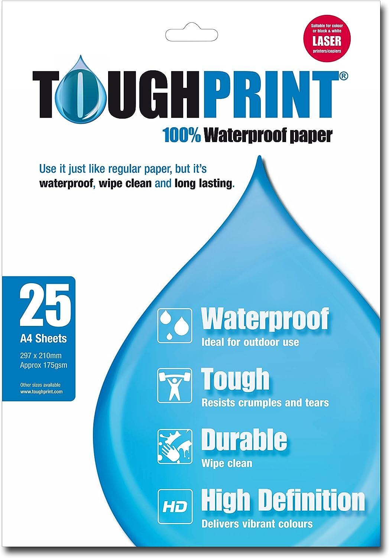 /25/x A4-Bl/ätter Toughprint wasserfestes Papier/