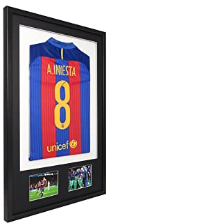 Diy football shirt framing design with top layer mount and 2 6x4 vivarti diy adult 3d mounted double aperture sports shirt display frame 61 x 915cm solutioingenieria Choice Image