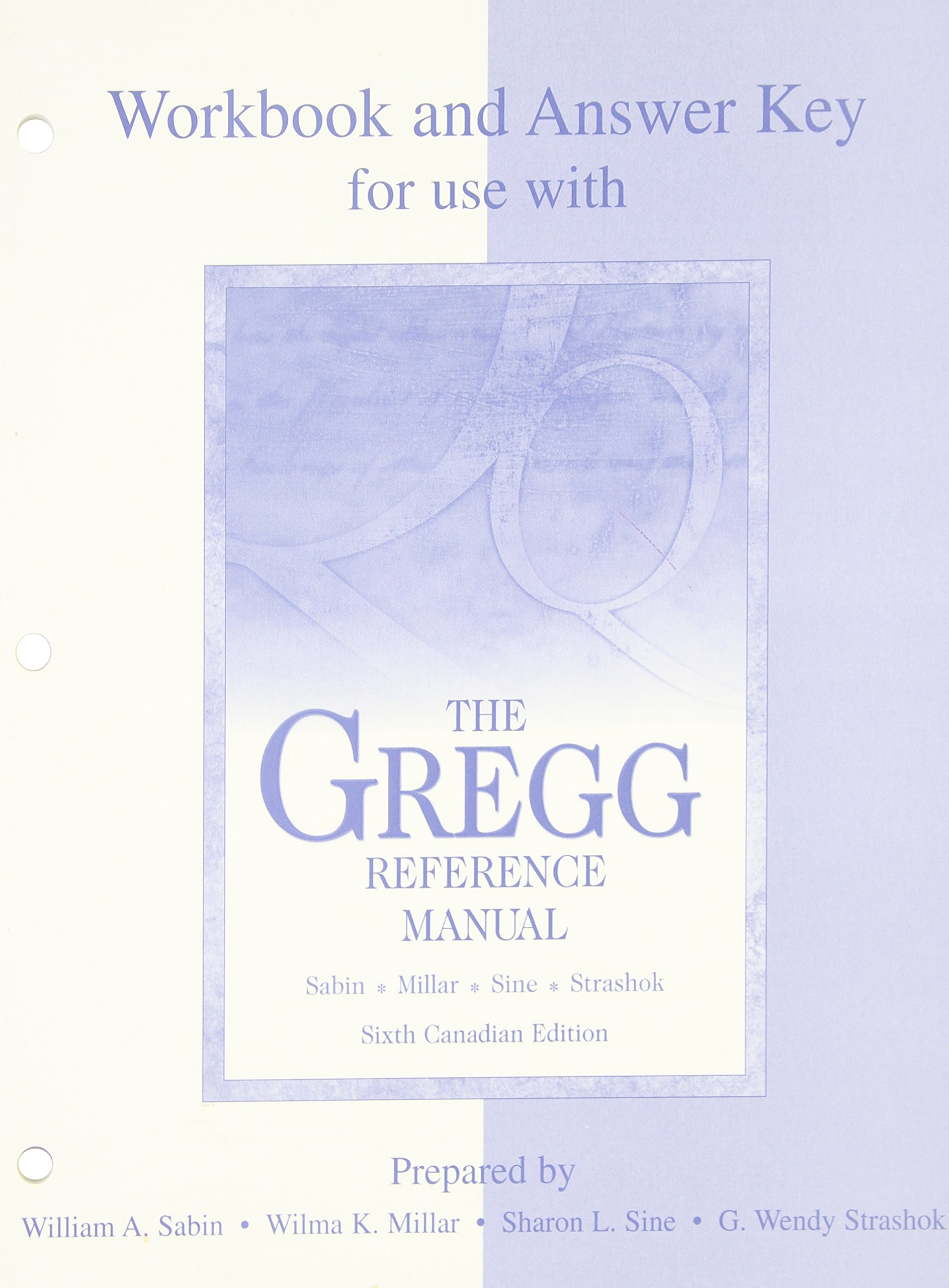 Workbook and Answer Key for use with The Gregg Reference Manual:  9780070891678: Books - Amazon.ca