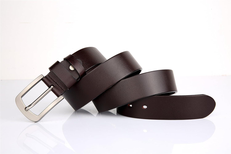 Men`s Belt One Piece Cow Skin Leather Belt