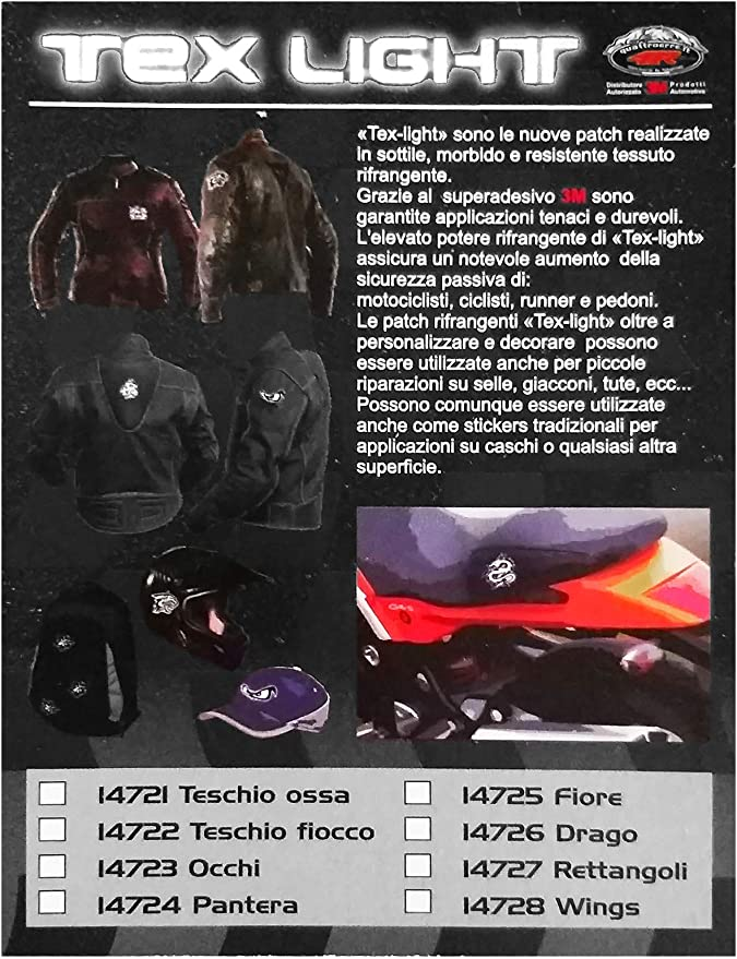 quattroerre 14724/Sticker adhesivo Pantera reflectante