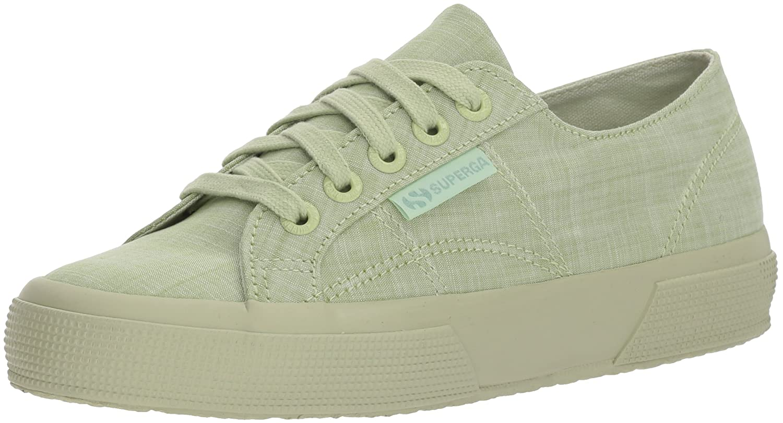 Superga Women's 2750 Cottonmelangeu Sneaker B0777SZSC3 36 M EU (6 US)|Light Green