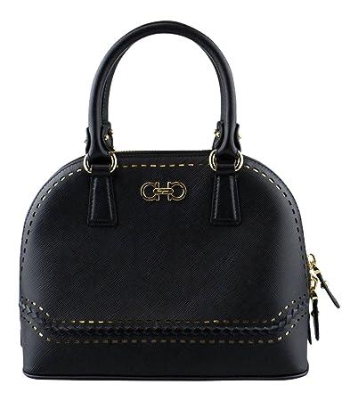 Amazon.com   SALVATORE FERRAGAMO Black Leather Darina Handbag   Baby aaaa85ee8c149