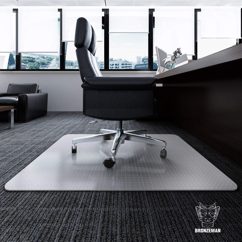 Desk Chair Mat for Carpet - Heavy Duty | Unbreakable Vinyl Floor Protector for Low-Pile Carpet,Thick 48'' X 36'' Rectangular Non-Slip Bottom, Home, Office, Computer