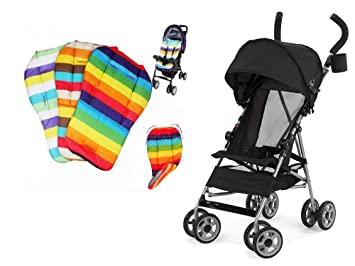 Kolcraft Cloud Lightweight Umbrella Stroller with Large Sun Canopy Black and Waterproof Rainbow Baby Kids Seat  sc 1 st  Amazon.com & Amazon.com : Kolcraft Cloud Lightweight Umbrella Stroller with ...