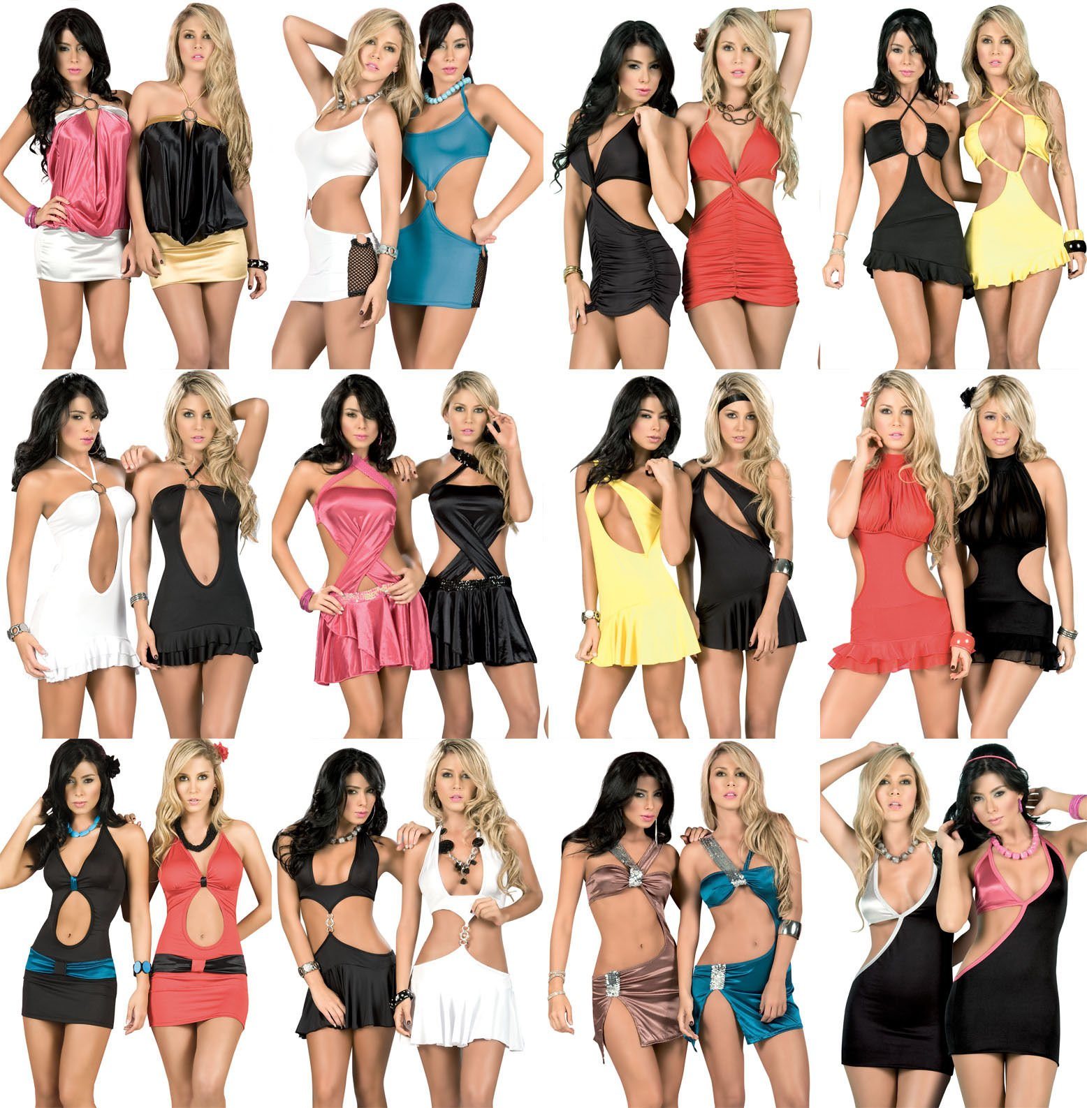Variety R1 Wholesale Lot Clothing 300 Pcs Women Dresses Summer Tops Clubwear Mixed S M L