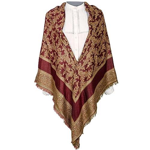 Daquela Modelo Pastoriza - Pañuelo o mantón de lana para mujer