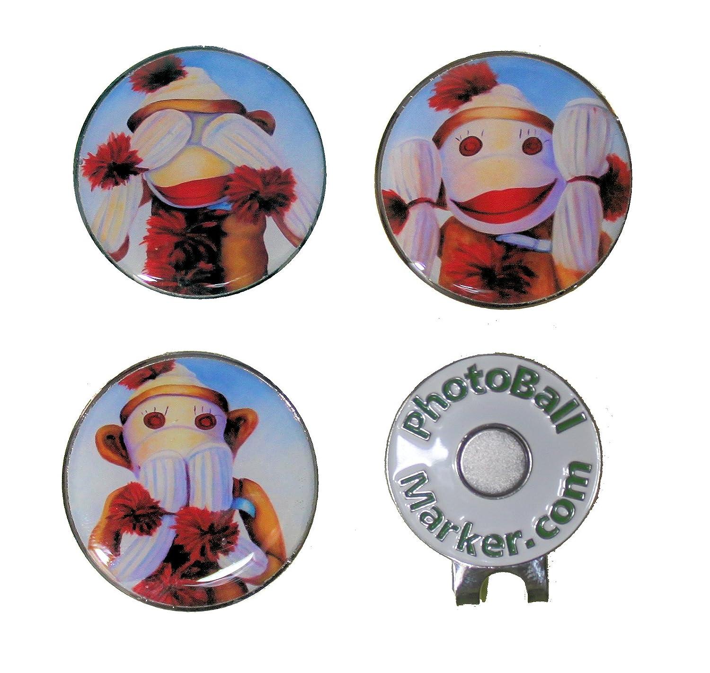 Sock Monkeys – ゴルフボールマーカーセット   B079VVG312