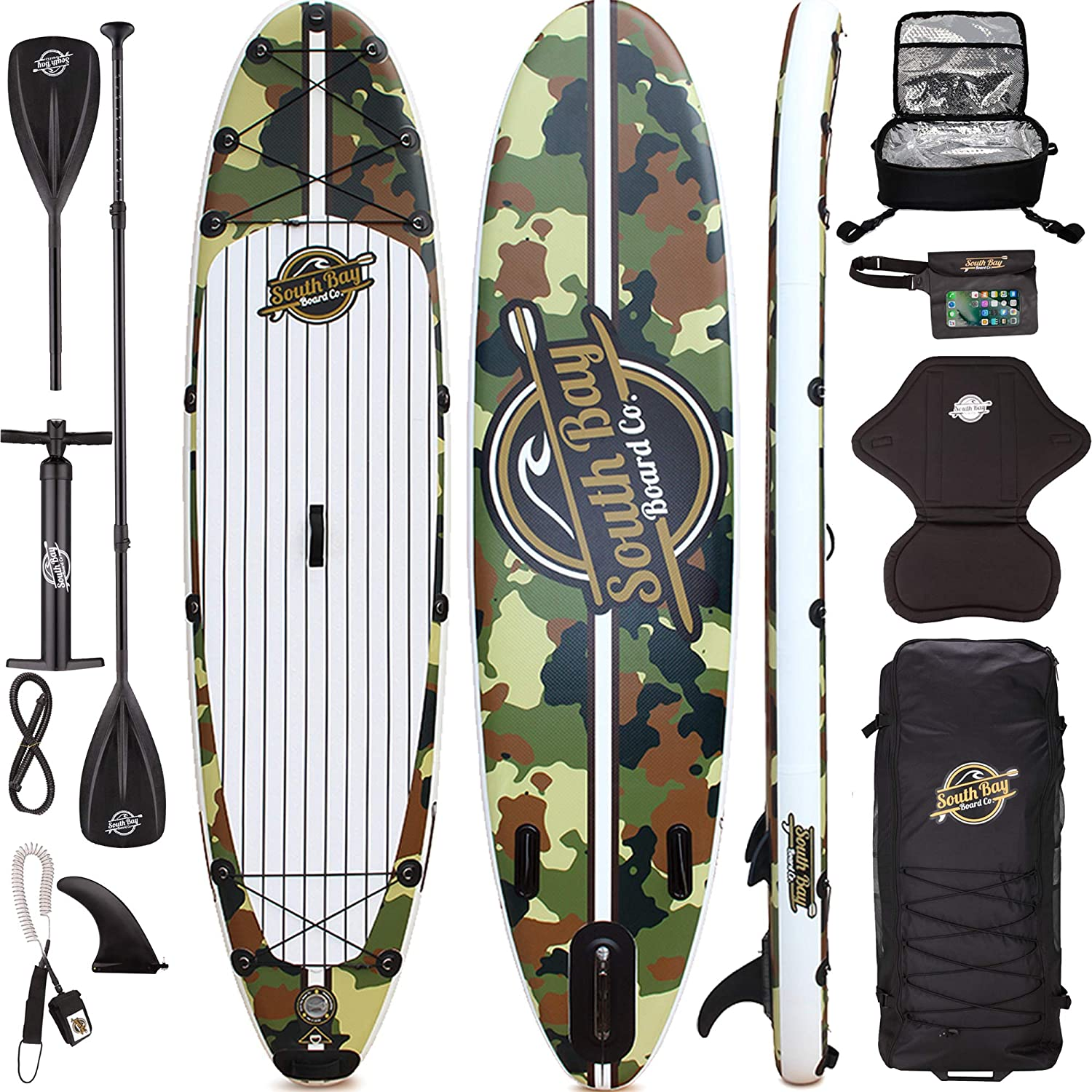 926f428452e6cd Premium Inflatable Stand Up Paddle Board Package - 10 6 Aqua Discover ISUP