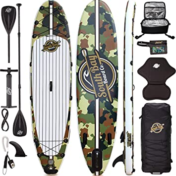 Amazon.com: Premium Inflatable Stand Up Paddle Board Package ...