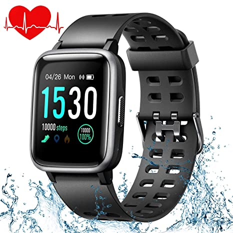 ONSON - Pulsera de Fitness Resistente al Agua IP68, Reloj de Fitness para Mujer, Hombre, niños, Reloj Deportivo con podómetro, Reloj pulsímetro, Reloj ...