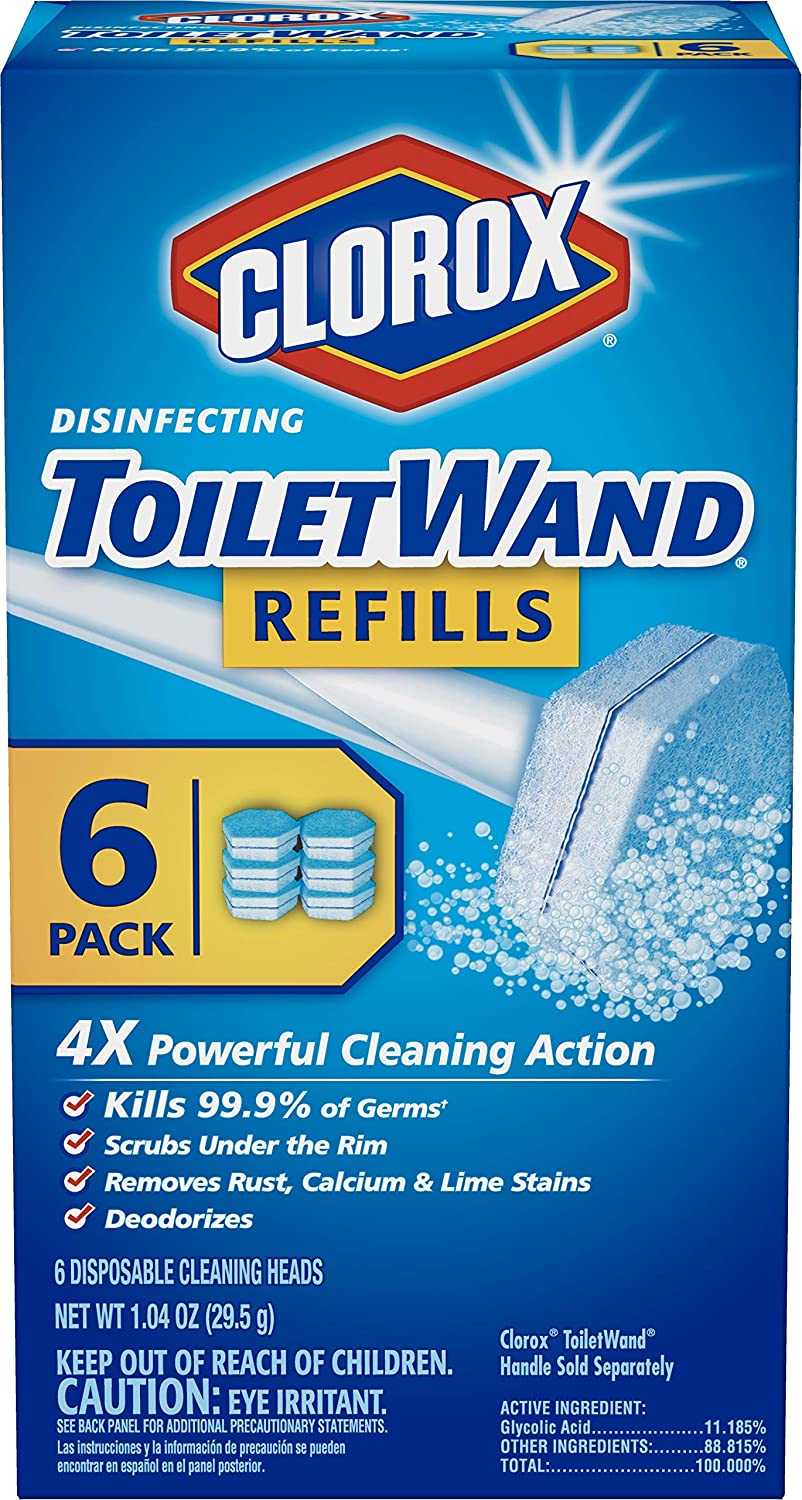 Clorox ToiletWand Disinfecting Refills, Disposable Wand Heads - 6 Count (Package May Vary): Health & Personal Care