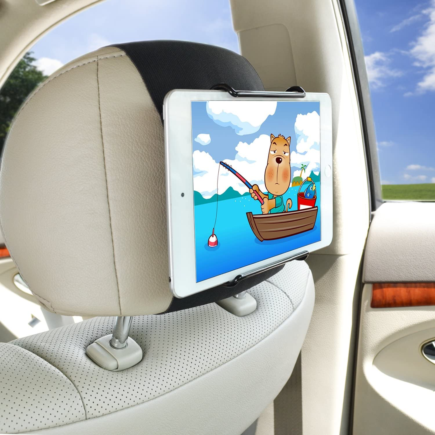 10.5 Inch iPads and Tablets Tablet Car Mount WANPOOL Car Headrest Mount Holder Compatible with 7