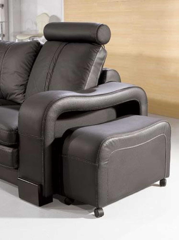 amazoncom vig furniture ev modern black leather sectional sofa kitchen u0026 dining
