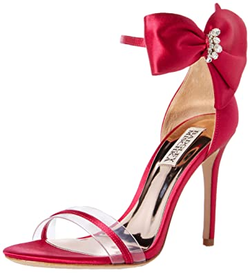 8ee9f68bc Badgley Mischka Women s Fran Heeled Sandal African red 5.5 ...