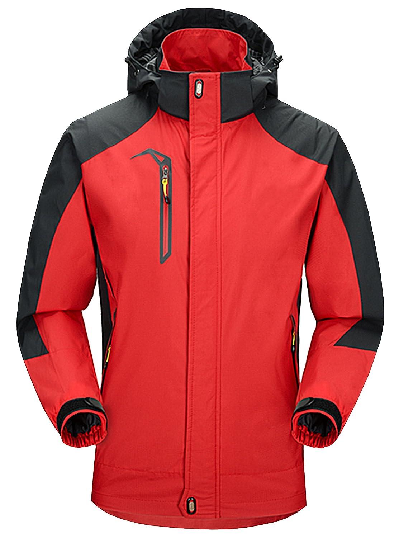 ZITY Skijacke Wasserdichte 3 in 1 Winddicht Kapuzen-Snee Mantel Winter weich warm für Damen und Herren