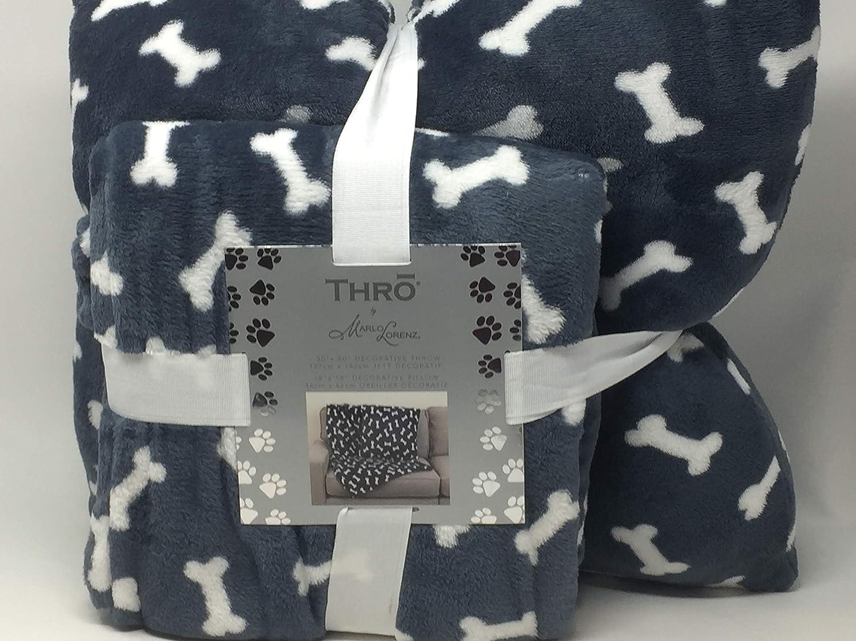 Thro by Marlo Lorenz Throw Blanket Blue-Gray