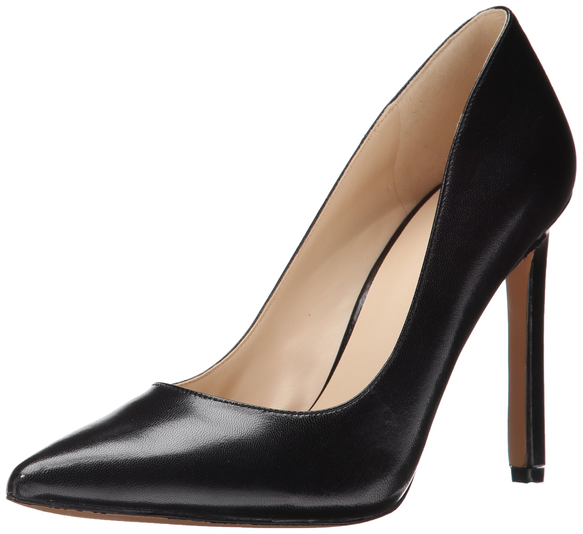 Nine West Women's Tatiana Dress Pump,Black Dark Natural Suede,8 M US