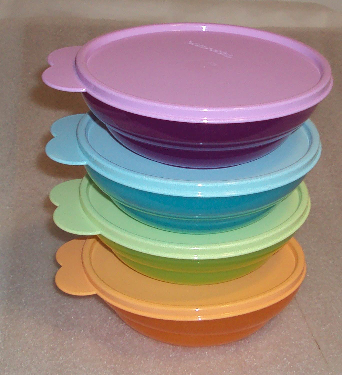 Amazon.com: Tupperware Classic Vintage Style Cereal Bowls, Tropical ...