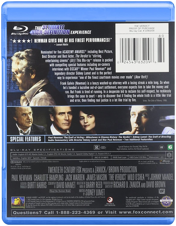 Verdict [Blu-ray] [1982] [US Import]: Amazon.co.uk: DVD & Blu-ray