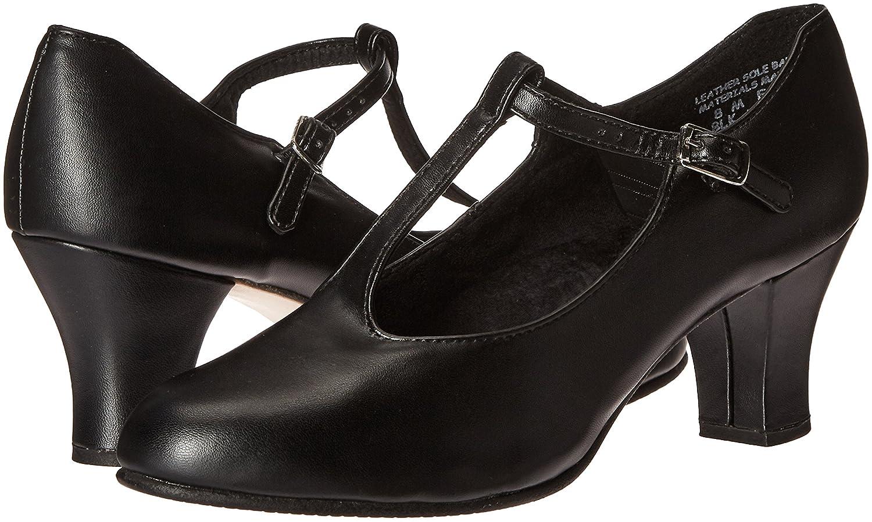 Capezio Women's Jr. Footlight T-Strap Dance Shoe B008QR7N90 11.5 B(M) US|Black