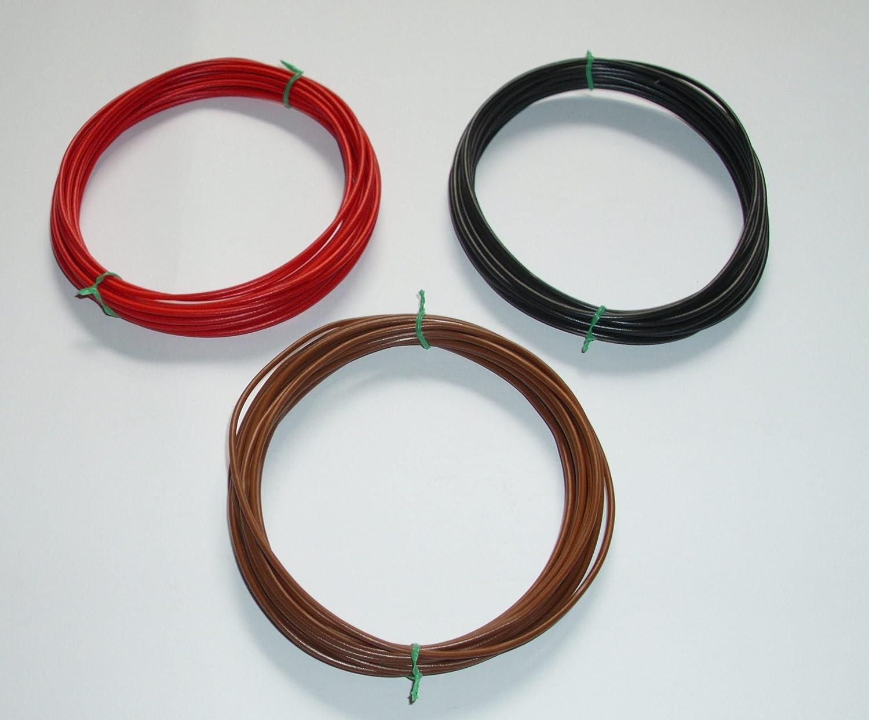 Litze Flry Fahrzeugleitung Kfz-Kabel Set 0,35mm/² 6 x 5m /€ 0,48//m