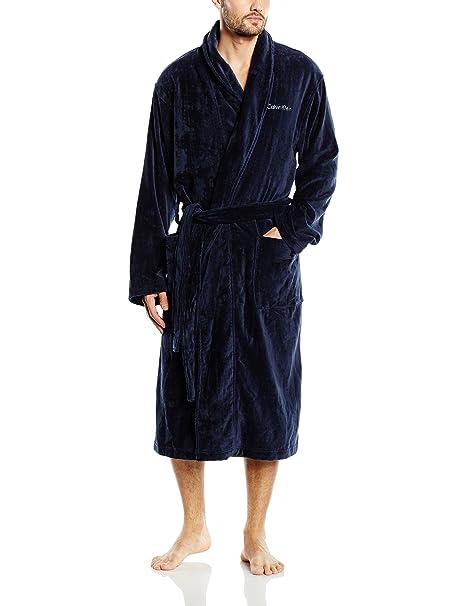 Calvin Klein Terry Robe, Albornoz para Hombre, Azul (Blue Shadow 8Sb) Small: Amazon.es: Ropa y accesorios