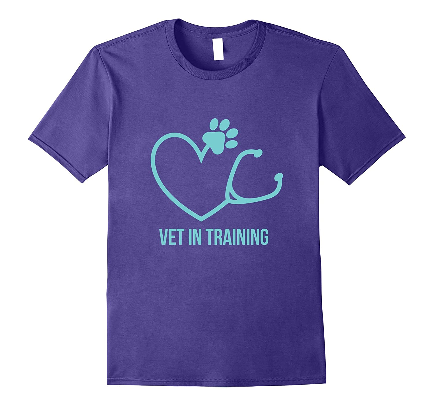 Vet In Training T Shirt with Heart and Pawprint-RT