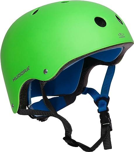 81sgmWKxvtL. AC SL520  - HUDORA 84108 - Skateboard-Helm, Scooter-Helm grün, Gr. 51-55, Skate Helm, Fahrrad-Helm